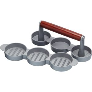 Kitchen Craft Mini Hamburgerpress Aluminium Non-stick