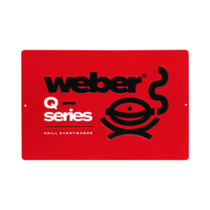 Limited Edition Weber Q Series-metalldekal