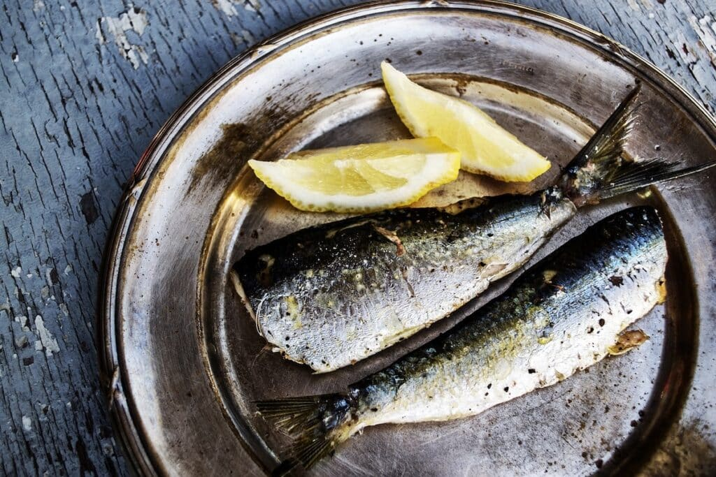 Grilla fisk sardiner